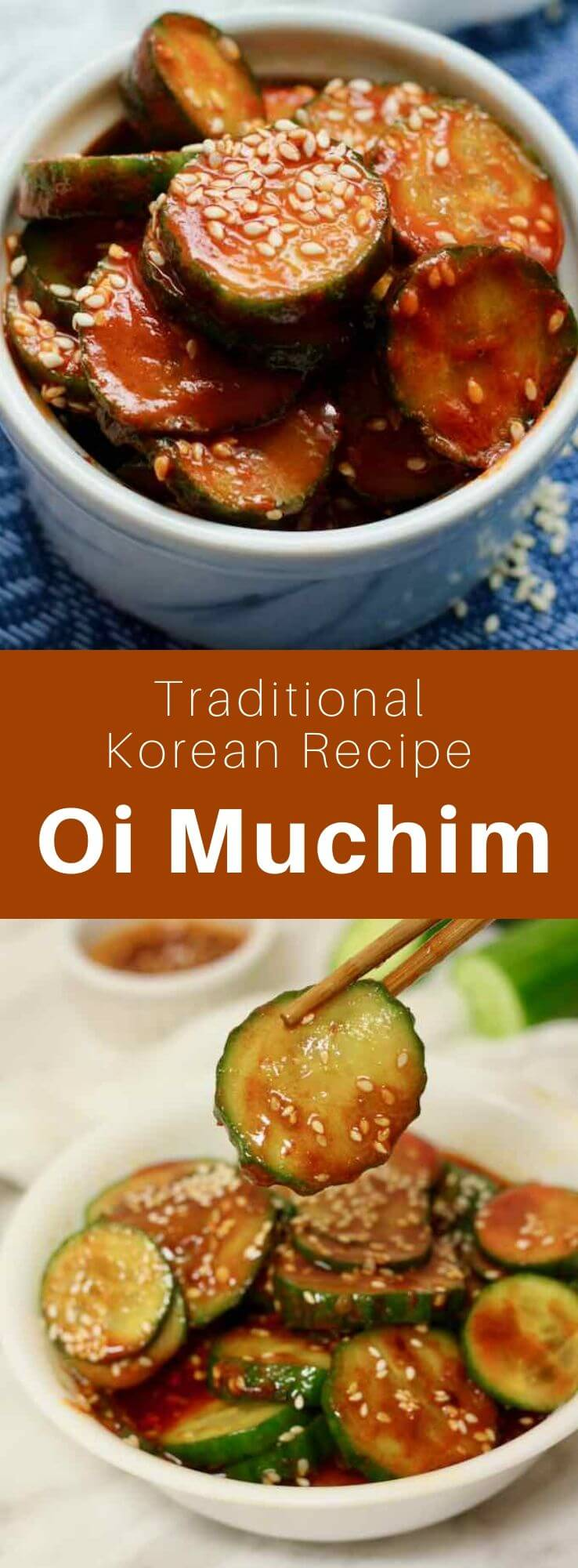 Oi muchim (or oi saengche) is a delicious traditional Korean salad made with cucumber flakes and red pepper. # Korean food # Korean recipe # Korean cuisine #World cuisine # 196 flavors