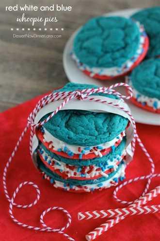 Empanadas rojas blancas y azules de Whoopie