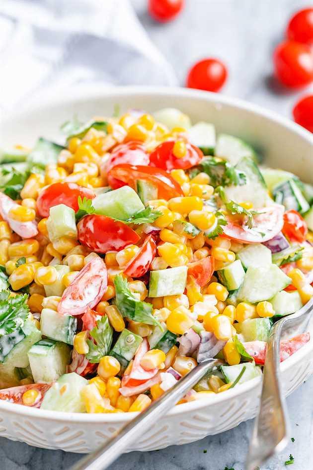 receta cremosa de ensalada de maíz 4