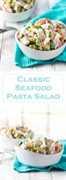 Receta clásica de ensalada de pasta con mariscos