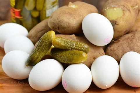 Ingredientes para la ensalada de papa del sur