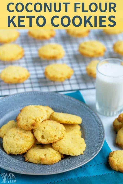 receta de galletas de azúcar con harina de coco