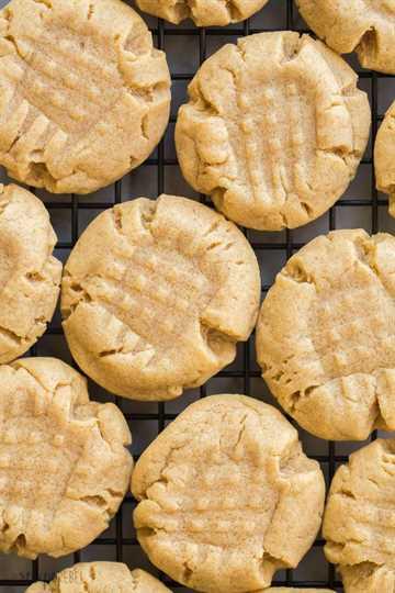 galletas de mantequilla de maní de cerca