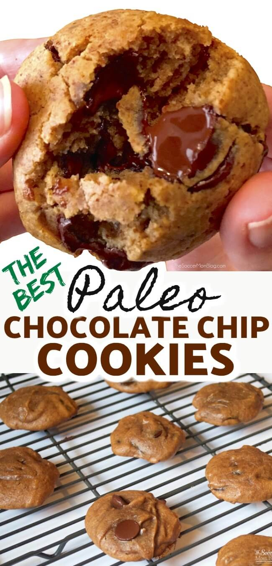 ¡Nunca puedo comer solo uno! ¡Las masticables galletas de chispas de chocolate paleo son tan decadentes que nunca adivinarías que son realmente buenas para ti!