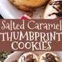Galletas saladas de huellas dactilares de caramelo