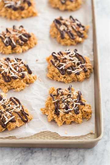 no hornear galletas de samoa en la sartén