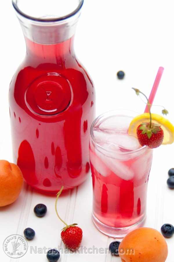 Kompot is a fruit juice made by almost all Russian and Ukrainian families. There are many ways to do it, you have to try it.