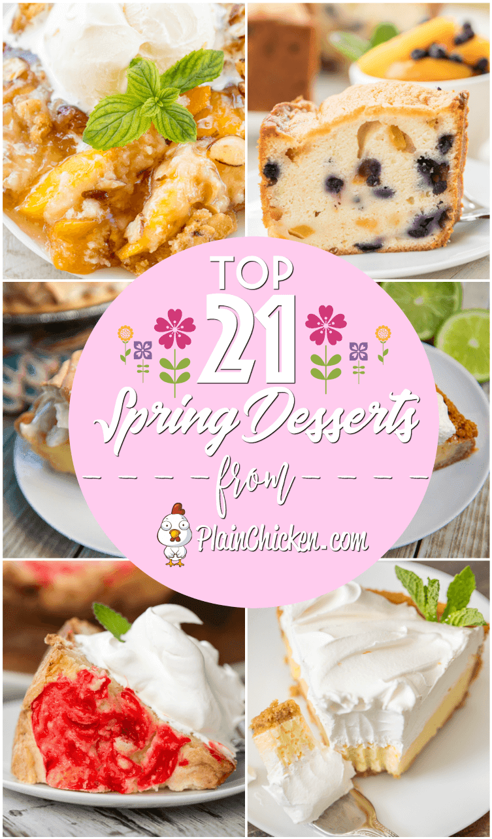 Los 21 mejores postres de primavera: ¡21 grandes postres para todas tus fiestas de primavera! Bizcochos, tartaletas, pasteles, pasteles de hoja: ¡algo para todos! #dessert #dessertrecipes