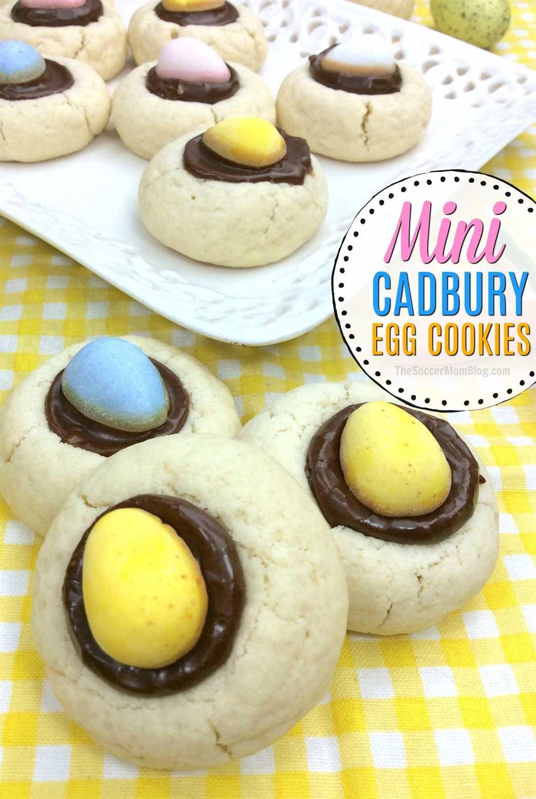 ¡Las mini galletas de huevo Cadbury son una galleta festiva de huellas digitales solo para Pascua!