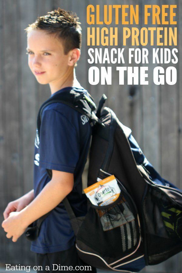 Try this gluten-free frugal snack for kids on the go. This protein snack is ideal for busy families to stay fed throughout the day.