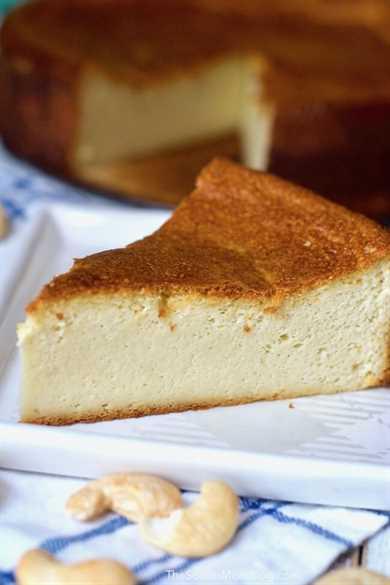 Este pastel de queso sin lácteos es absolutamente perfecto (¡y fácil!) ¡Es el paraíso para los amantes del pastel de queso que intentan evitar los lácteos!