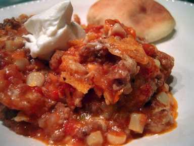 Pavo al estilo sureño, tomate y monterey Jack Bake