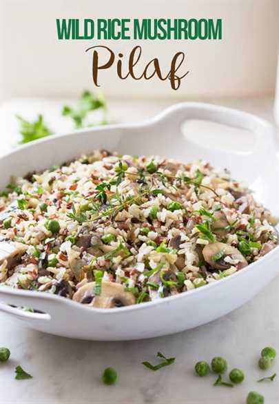 Menos de 30 minutos Pilaf de champiñones con arroz salvaje: un acompañamiento súper fácil y delicioso perfecto para comidas y reuniones festivas.