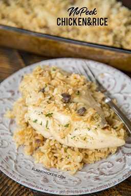 Pollo y arroz sin asomo: ¡receta de cena súper fácil! Pechugas de pollo, arroz, crema de pollo, sopa de champiñones, caldo de pollo, sopa de cebolla. Mezcle todo en la fuente para hornear y revuelva en el horno. ¡TAN fácil y todos limpiaron su plato! ¡Incluso nuestros quisquillosos! # pollo # cazuela # pollo y arroz