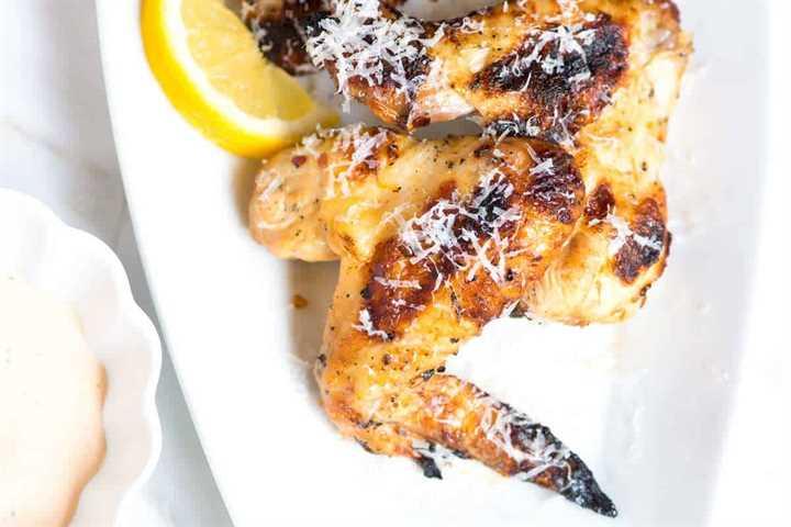 Lemon Grilled Chicken Wings Recipe