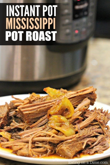 ¡Esta receta de olla a presión de asado de olla Mississippi es increíble! Súper fácil y esta es una receta tan rápida y fácil de Instant Pot.