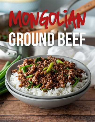 Esta receta súper fácil de carne molida de Mongolia es como la carne mongol clásica, ¡excepto que usa hamburguesas, por lo que está lista en unos 15 minutos!