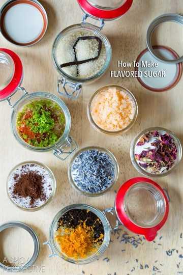 Cómo hacer azúcares con sabor - Recetas de azúcar con sabor #ediblegifts #homemadegifts
