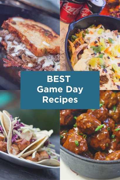 Las mejores recetas del día del juego