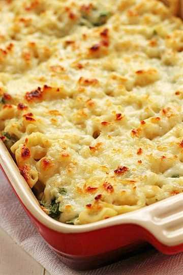Saludables espinacas Dip Mac y queso un Saludables espinacas Dip Mac y queso