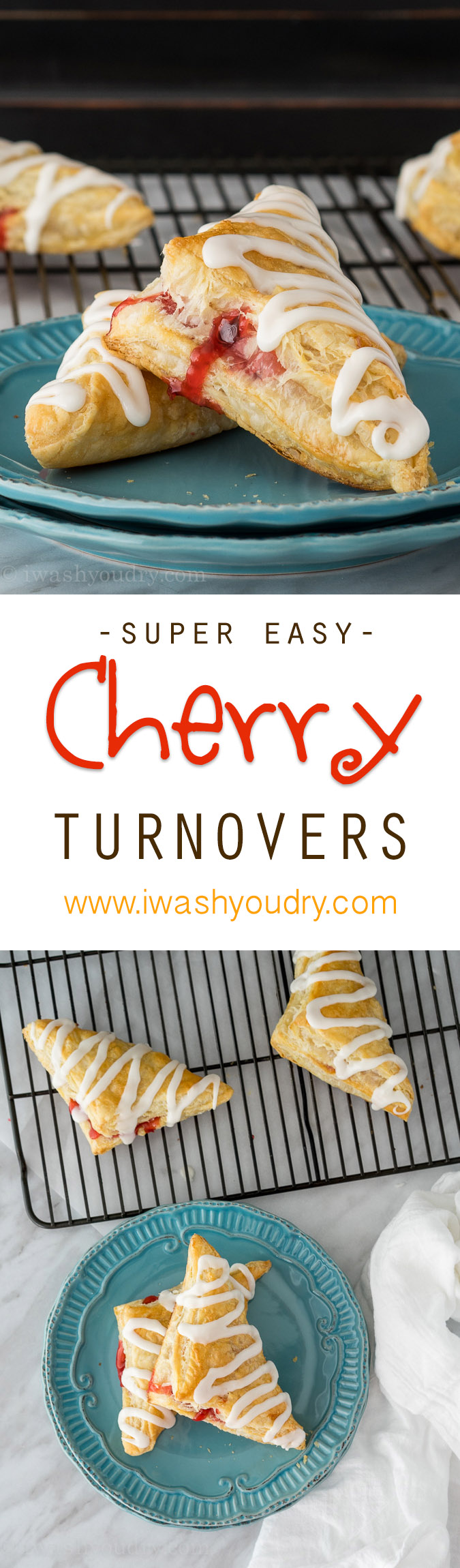 Just a few simple ingredients for these super easy cherry pies!