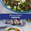 ¡Este tabulé de brócoli con lentejas es el almuerzo perfecto! Puedes avanzar, es súper abundante y muy bueno para ti. Es un divertido sin gluten y tiene todo el sabor de tabulé que conoces y amas. ¡Se convertirá en un favorito instantáneo!
