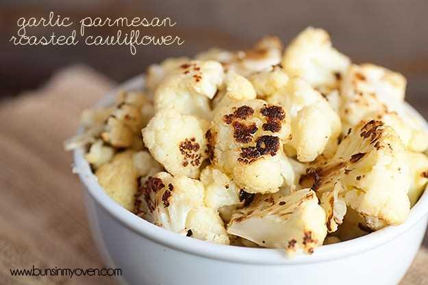 Coliflor asada con parmesano y ajo #recipe