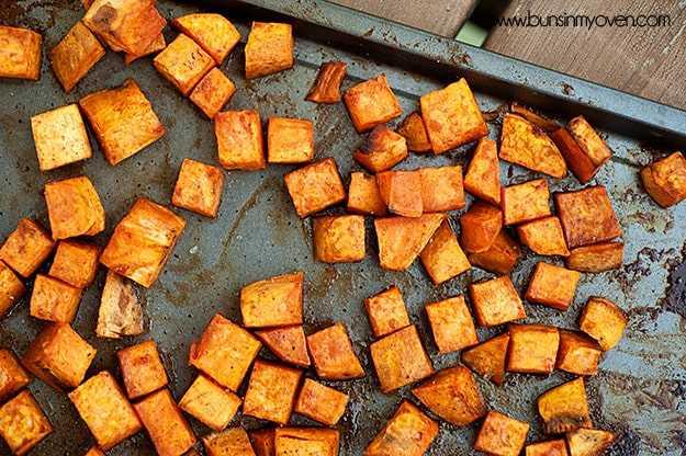 receta de batatas asadas con canela y miel