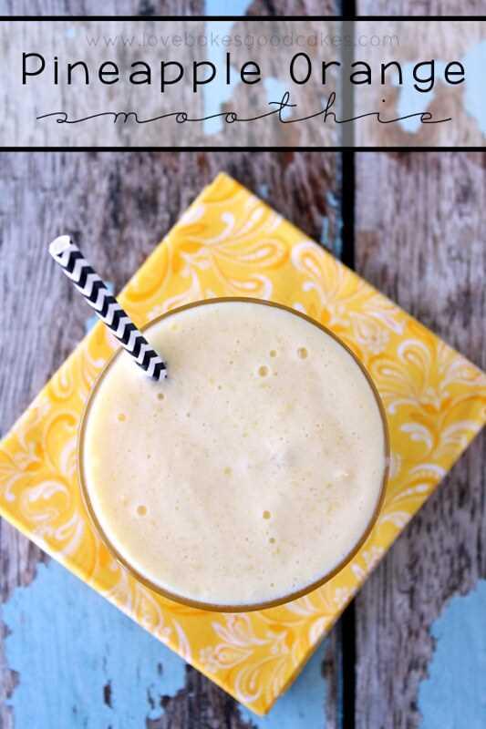 Smoothie de piña y naranja: ¡un desayuno saludable que es fácil de preparar en las mañanas agitadas! #breakfast #smoothie