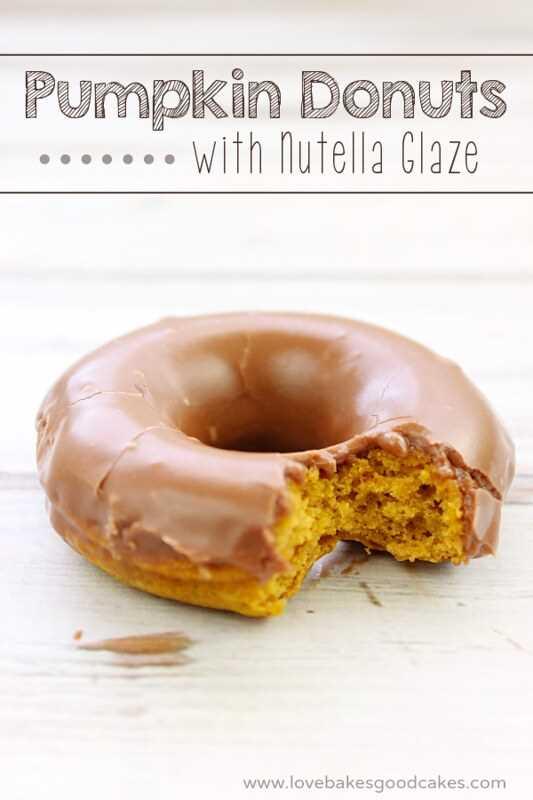 Donuts de calabaza con glaseado de Nutella - ¡mmm! Receta fácil y deliciosa!