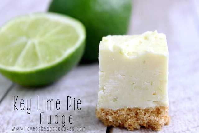 Key Lime Pie Fudge - receita fácil! Não é necessário termômetro! Faça-o com ou sem a Graham Cracker Crust! #fudge #keylime # fácil
