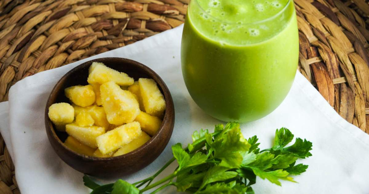 Smoothie ananas et persil » Recette facile et saine!
