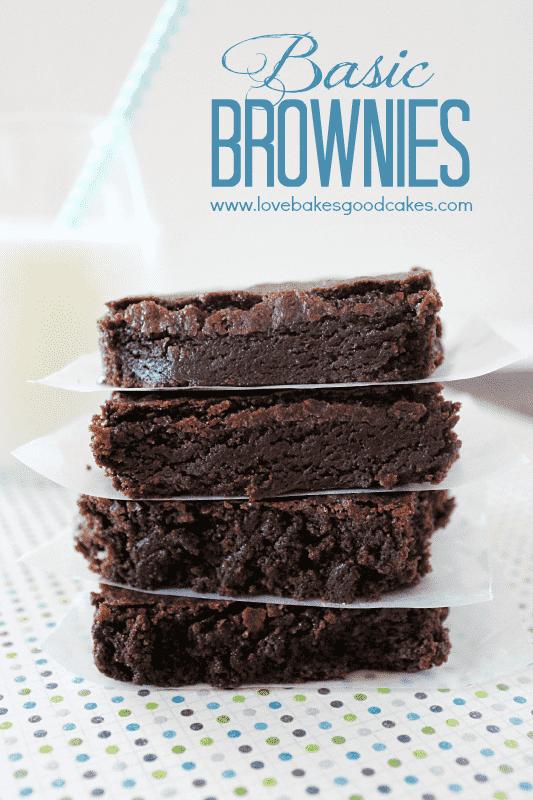 Brownies básicos - Você provavelmente tem tudo o que precisa para fazer essas guloseimas de chocolate! #Brownies de chocolate