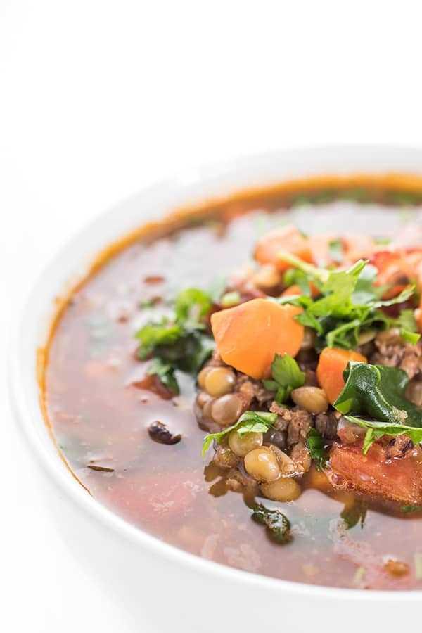Sopa De Lentejas Con Chorizo Y Espinacas Receta Fácil Y Saludable