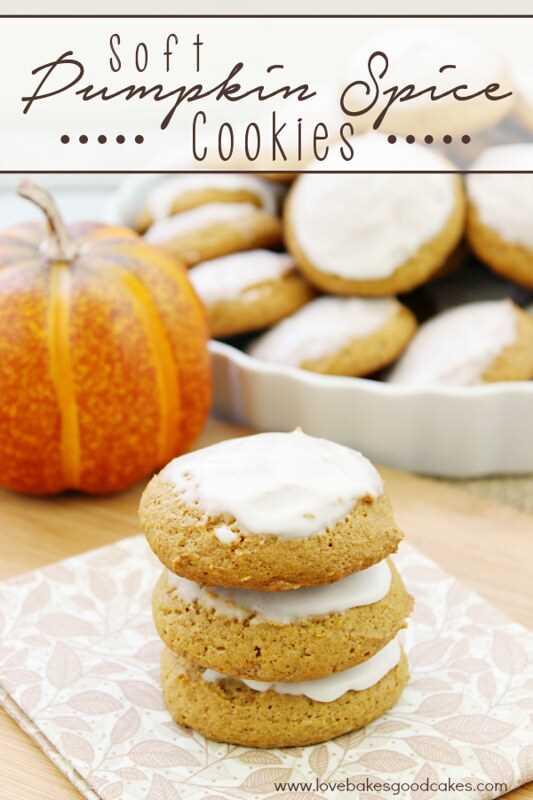 Llenas de calabaza y especias, estas galletas suaves de especias de calabaza son perfectas para hornear y compartir en otoño. ¡Fácil de hacer! # Lorannobc14 #pumpkin