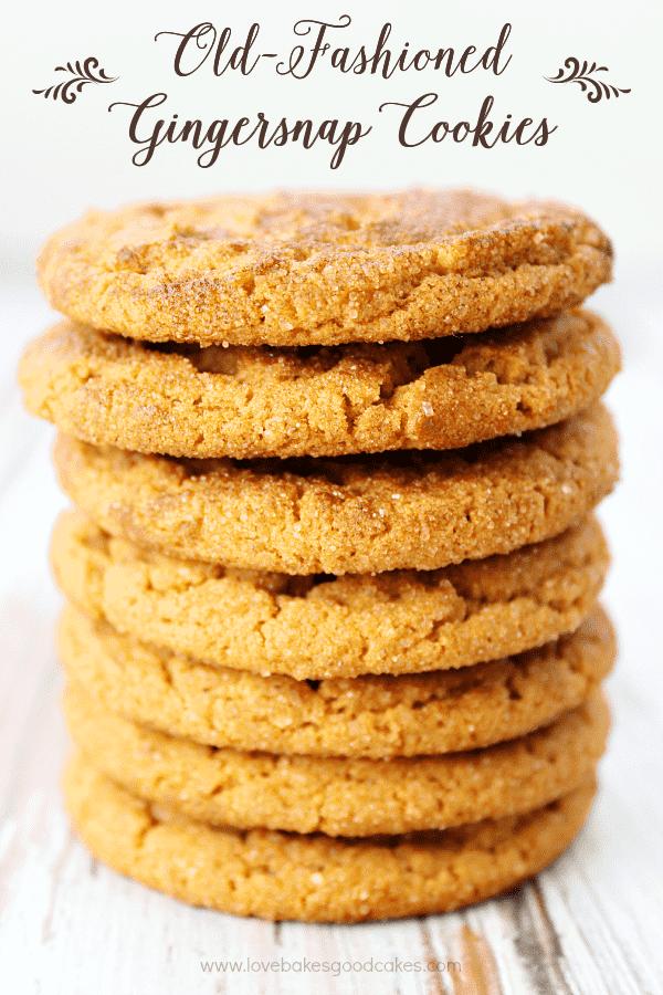 ¡Estas galletas de jengibre a la antigua usanza son como solía hacer la abuela! ¡Perfectamente crujiente con mucho sabor a jengibre y melaza! ¡Seguro que se convertirán en un favorito de la familia!