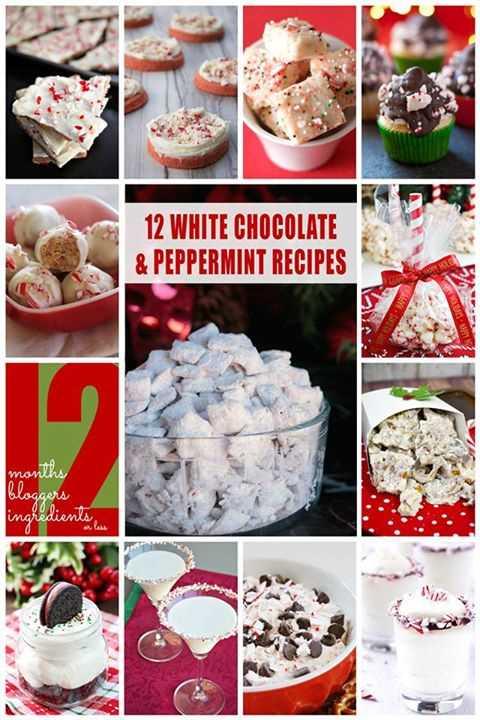 ¡12 recetas de chocolate blanco y menta! # 12bloggers