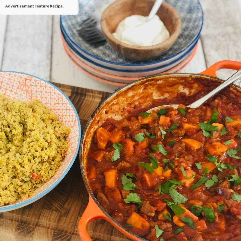 Guisado marroquino do cordeiro – ideia fácil do jantar da família