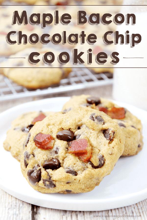 ¡Lleva tus galletas con chispas de chocolate al siguiente nivel con estas galletas con chispas de chocolate y tocino de arce! # BaconMonth2015