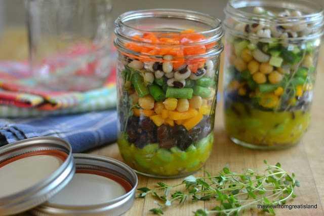 Mason Jar 7 Salada de Feijão