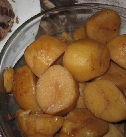Batatas com molho