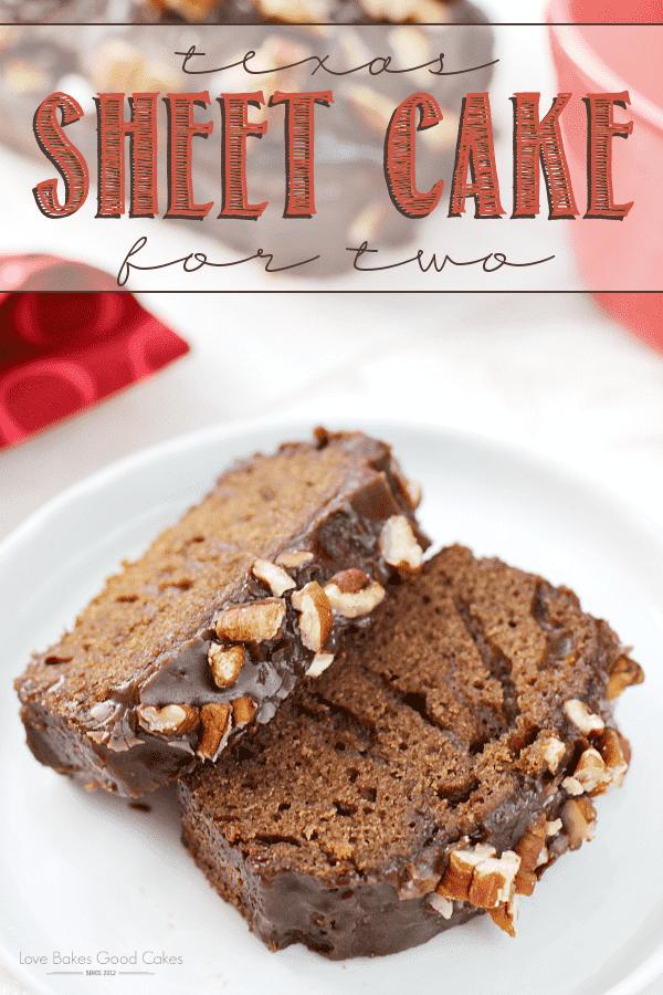 Perfeito para quando você só precisa de algumas porções, este Texas Sheet Cake for Two é rápido e fácil de preparar!