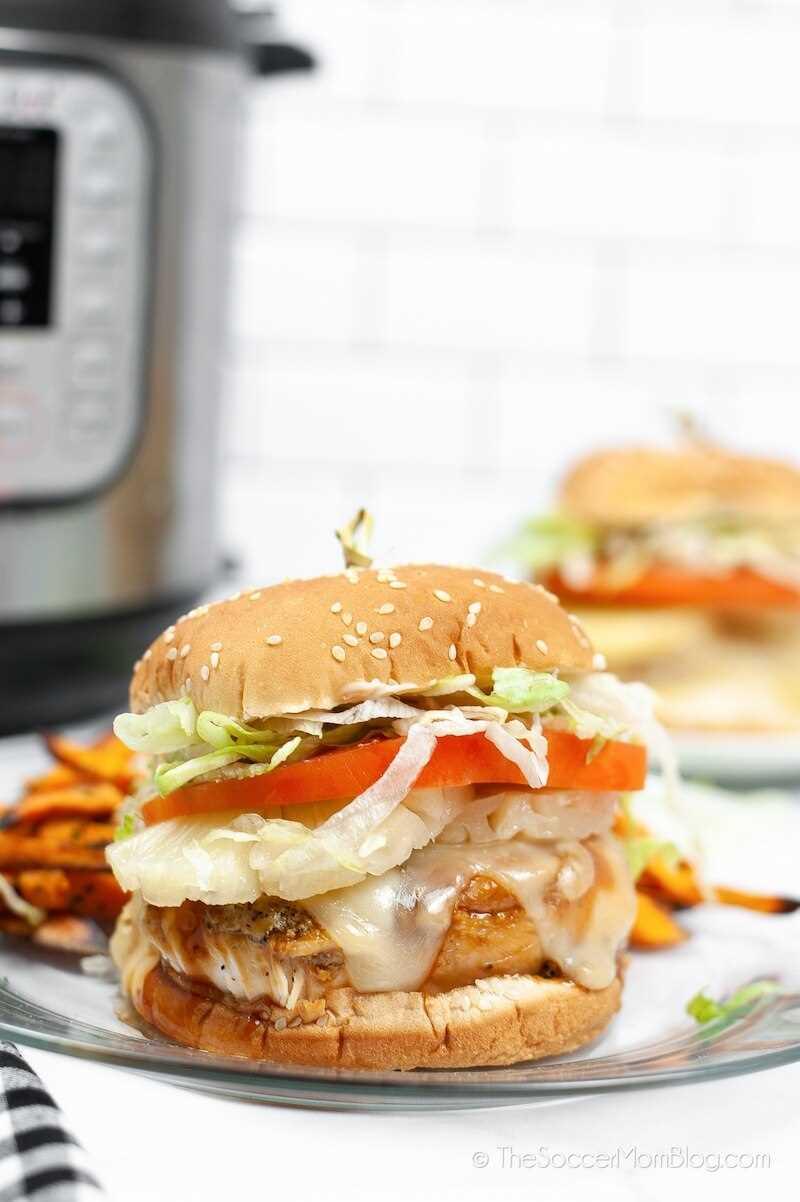 imitación hamburguesa de pollo teriyaki Red Robin